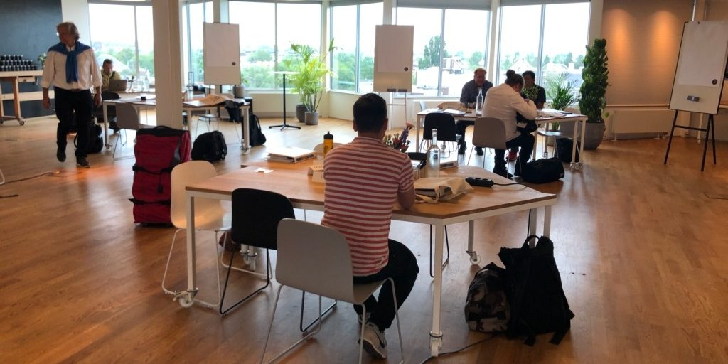 Working hard at Holacracy course